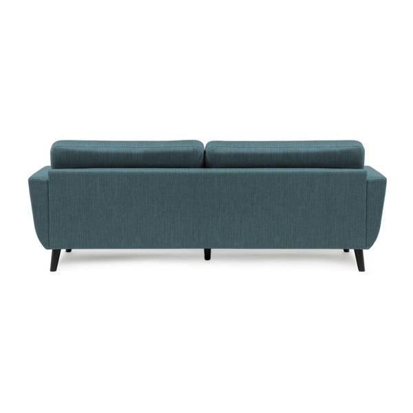 Niebieska sofa 3-osobowa Vivonita Harlem XL