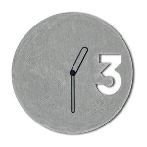 Betonowy zegar Jakuba Velínskiego, czarne kontury wskazówek
