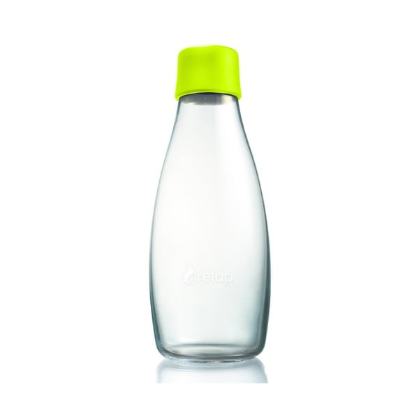 Limonkowa butelka ze szkła ReTap z dożywotnią gwarancją, 500 ml