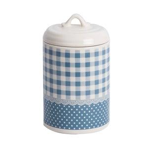 Pojemnik ceramiczny Blue Dots&Checks, 17 cm