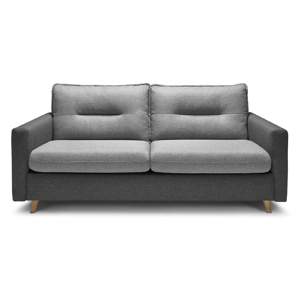 Szara sofa rozkładana Bobochic Paris Sinki