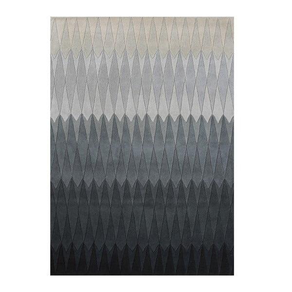 Wełniany dywan Acacia Grey, 170x240 cm