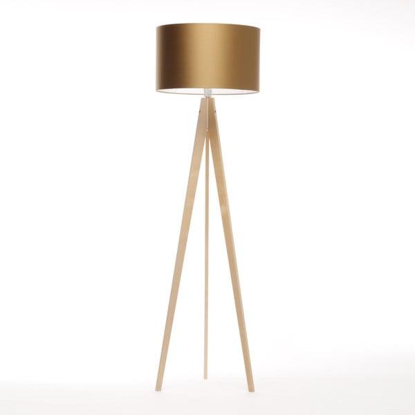 Złota lampa stojąca 4room Artist, brzoza, 150 cm