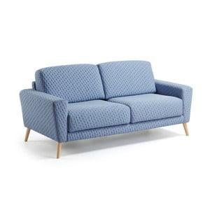 Jasnoniebieska sofa 3-osobowa La Forma Guy