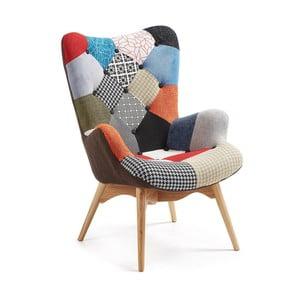 Fotel La Forma Knut Patchwork