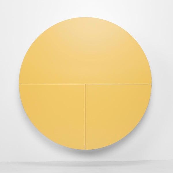 Wielofunkcyjne biurko ścienne Pill Emko, czarno-żółte
