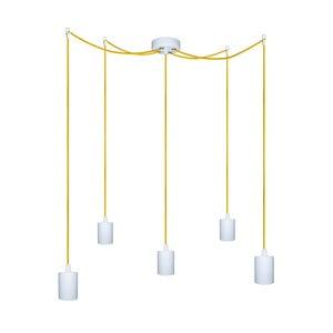 Pięć wiszących kabli Zero, żółty/biały