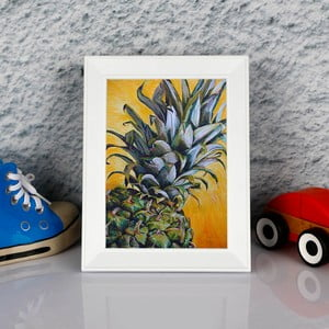 Obraz w ramie Dekorjinal Pouff Zoom Peanapple, 23x17cm