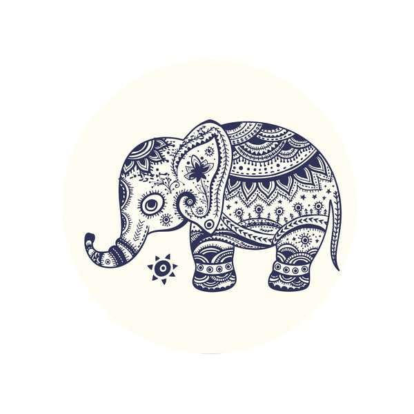 Zestaw 2 stolików Aztec Elephants, 35 cm + 49 cm