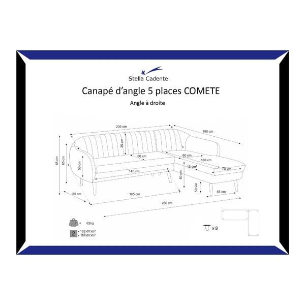 Narożnik prawostronny Comete Purple