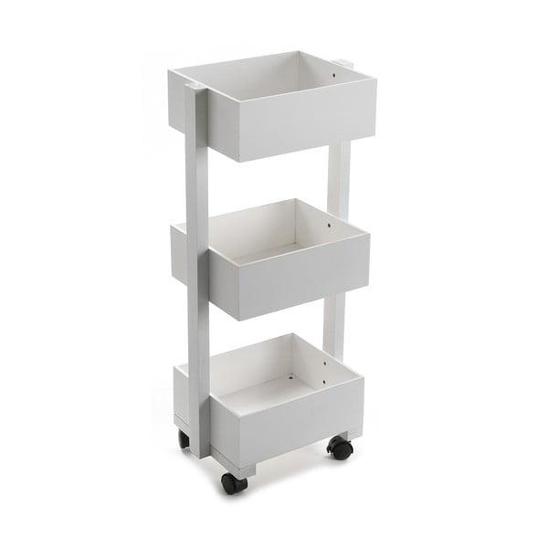 Wózek z 3 półkami White Rack