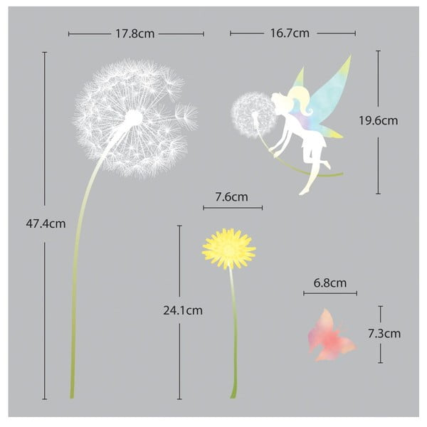 Zestaw naklejek Ambiance Dandelion and Little Fairy
