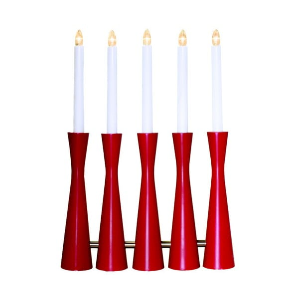 Czerwony świecznik LED Midja