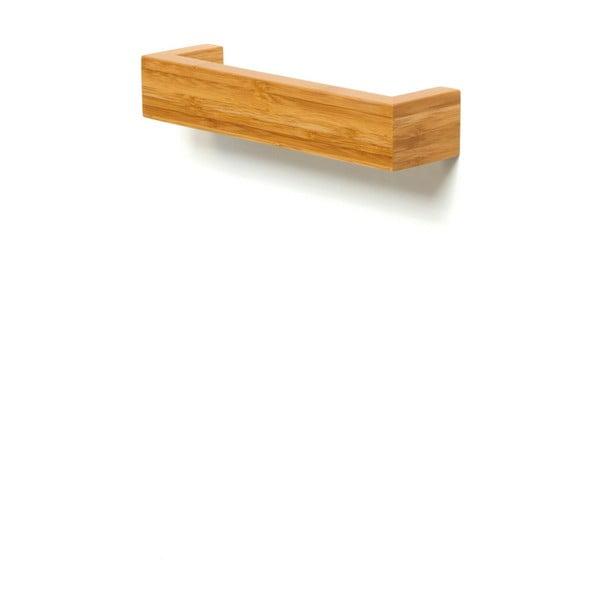 Bambusowy uchwyt ścienny na ręczniki Wireworks Bamboo, 28 cm