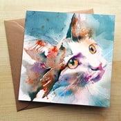 Kartka okolicznościowa Wraptious The Look of Love Cat