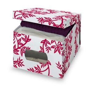 Czerwono-białe pudełko Domopak Living, wys. 31 cm
