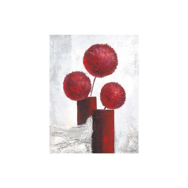 Obraz na płótnie Red Pompons 60x80 cm