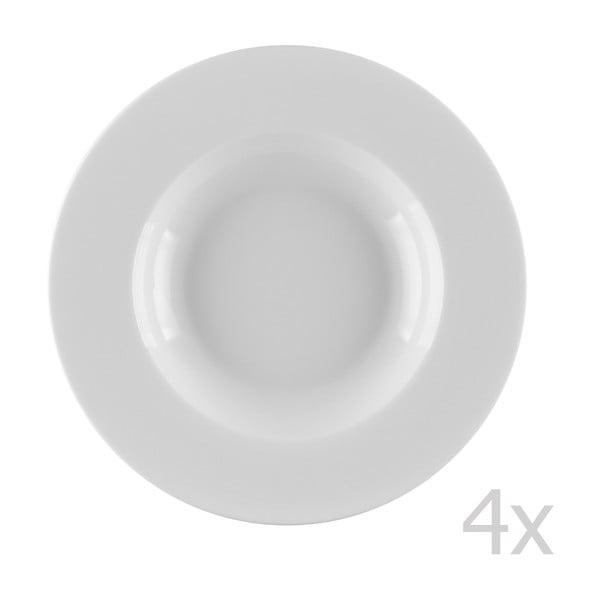 Zestaw 4 talerzy głębokich z porcelany Sola Lunasol, 22 cm