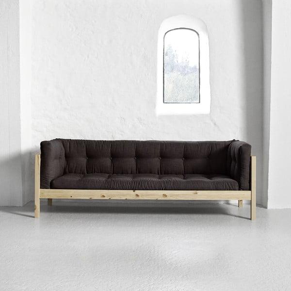 Sofa 3-osobowa Karup Fusion Natural/Linoso Choco
