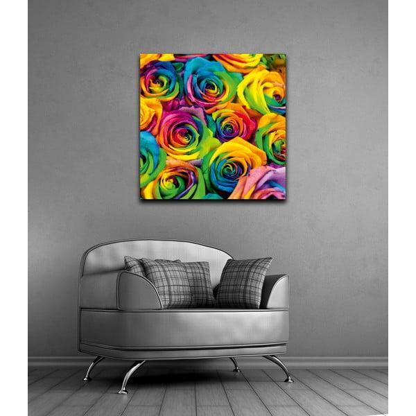 Obraz Tęczowe róże, 60x60 cm
