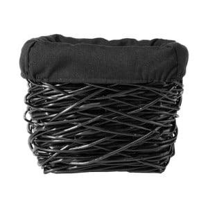 Czarny kosz wiklinowy Compactor Crazy, 25x25cm
