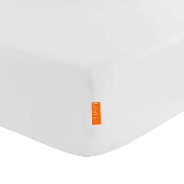 Prześcieradło elastyczne Blanc Basic White, 140x200 cm
