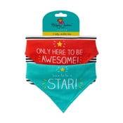 Zestaw 2 śliniaków Happy Jackson Born A Star/Awesome