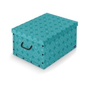 Turkusowe pudełko Domopak Ella, dł.50cm