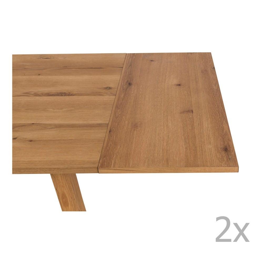 Zestaw 2 dodatkowych blatów do stołu Actona Chara