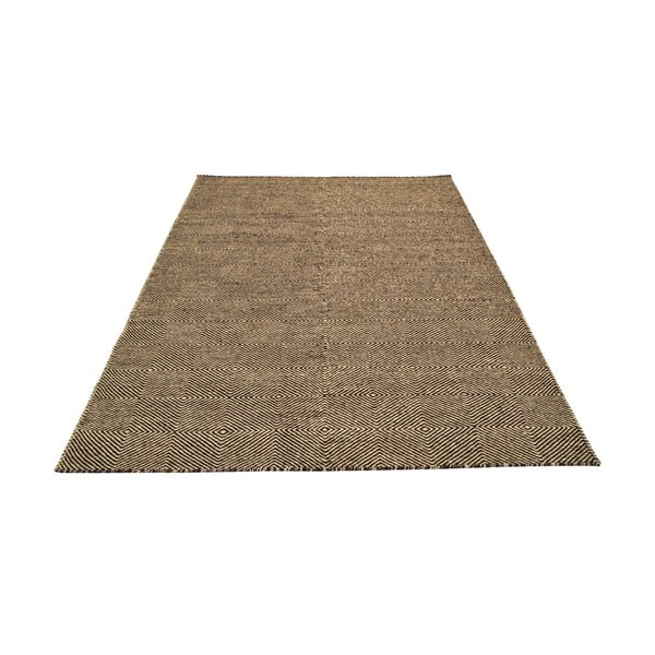 Ręcznie tkany dywan Dark Brown Kilim, 160x222 cm