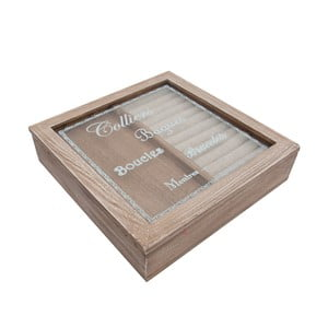Drewniana szkatułka na biżuterię Antic Line Holder