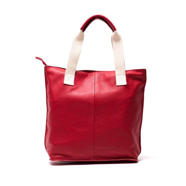 Skórzana torebka Sofia Cardoni Rosso