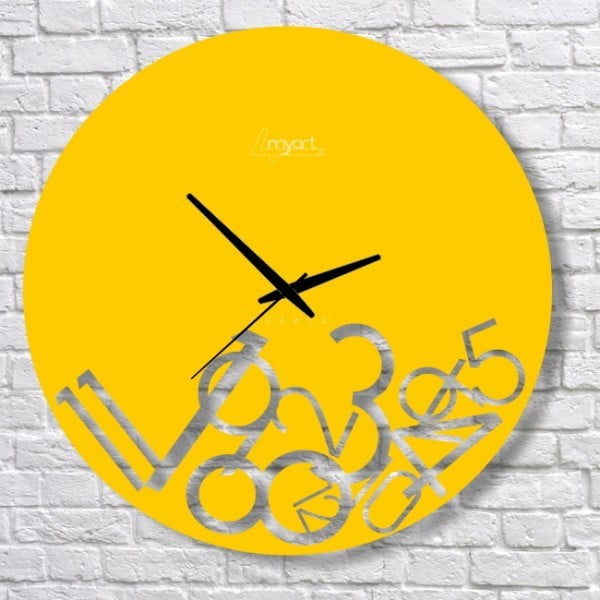 Zegar ścienny Yellow Confusion