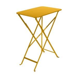 Żółty stolik ogrodowy Fermob Bistro, 37x57 cm