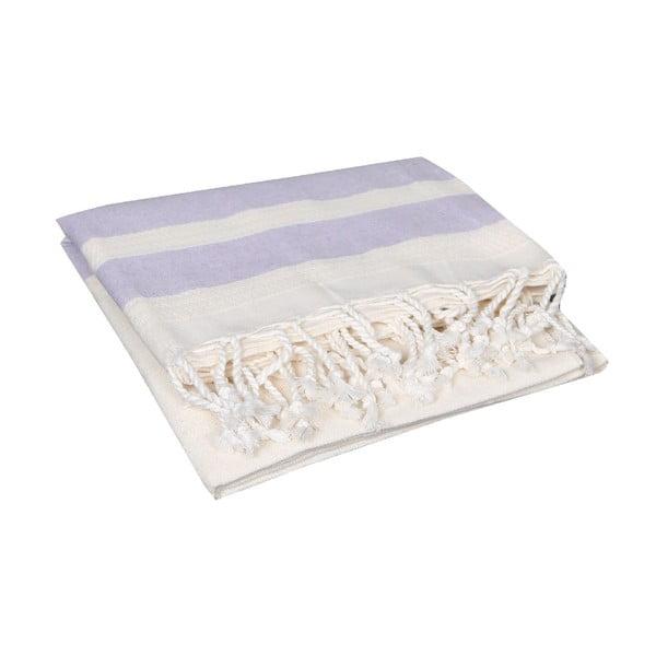 Jasnofioletowy ręcznik hammam Mimoza Lilac, 90x190cm
