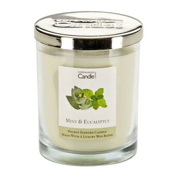 Świeczka o zapachu mięty i eukaliptusa Copenhagen Candles, czas palenia 40 godz.