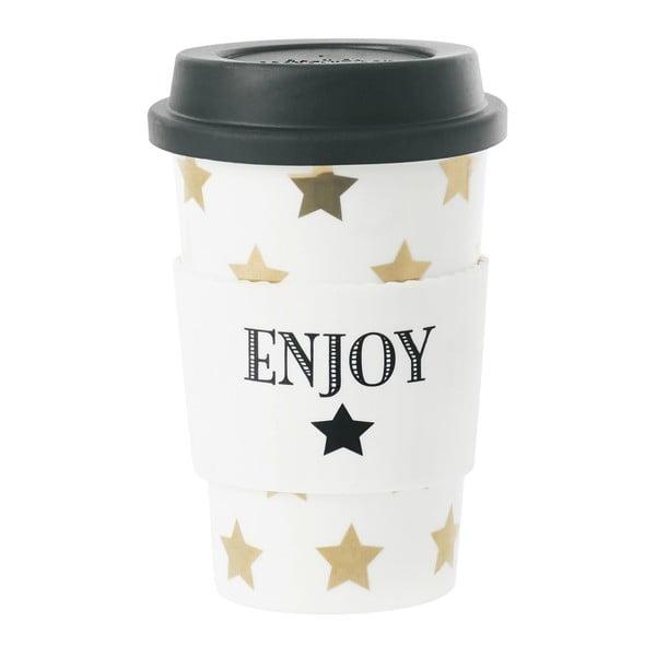 Ceramiczny kubek podróżny Gold Stars, 0,5 l