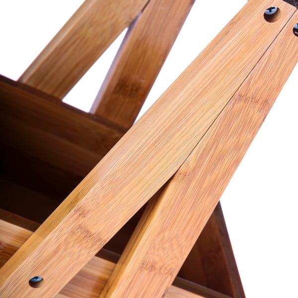 Trzypiętrowy  regał bambusowy Unimasa Bamboo