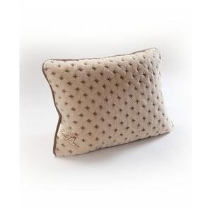 Brązowa poduszka z wełny wielbłąda Royal Dream Camel Dots, 40x70 cm