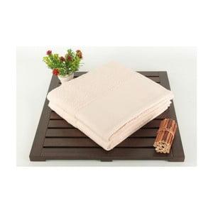 Zestaw 2 pudrowych ręczników ze 100% bawełny Patricia Powder, 50x90 cm