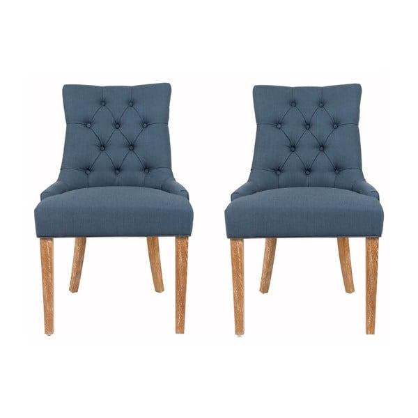 Zestaw 2 krzeseł Ashley Blue