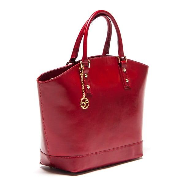 Skórzana torebka Carla Ferreri 351 Rosso