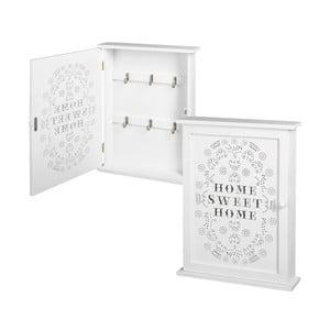 Biała skrzynka na klucze Unimasa Home Sweet Home, 25x33 cm