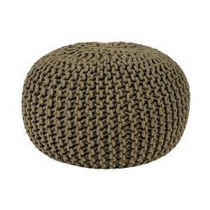 Khaki puf dziergany LABEL51 Knitted, Ø 50 cm