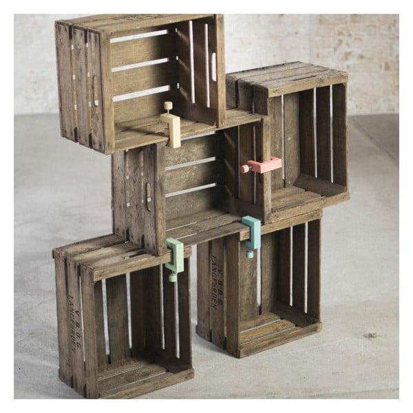 Drewniana klamra do łączenia skrzynek Clamp Fix, zielona