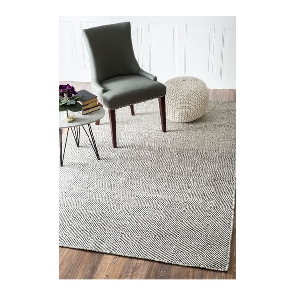 Wełniany dywan Silo Ivory, 120x183 cm