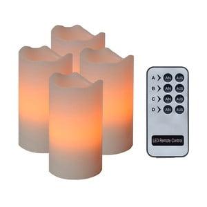 Zestaw 4 świeczek LED Wachs, pomarańcz