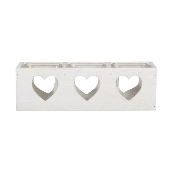 Świecznik Trio Heart, 27x9x8 cm