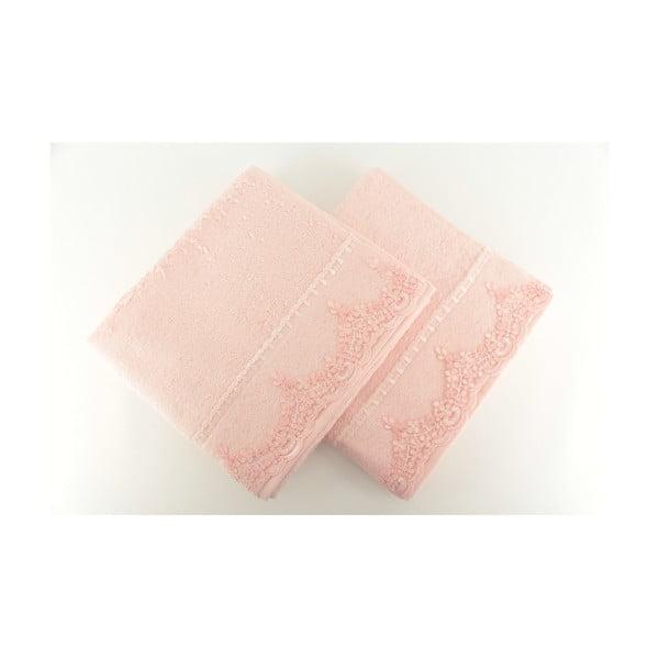 Zestaw 2 ręczników Lucas Pink, 50x90 cm