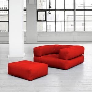 Fotel rozkładany Karup Cube Red